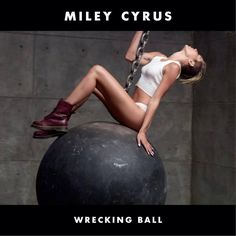 Here it is! Miley Cyrus debuted her new single cover for #WreckingBall!