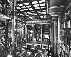 The Main Hall featured five tiers of cast-iron alcoves that housed over 200,000 books.   15 Gorgeous Photos Of The Old Cincinnati Library