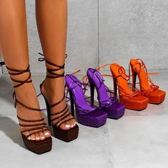 Cute Shoes Heels, Funky Shoes, Pretty Shoes, New Shoes, Me Too Shoes, Strappy Heels, High Heels, Stilettos, Streetwear