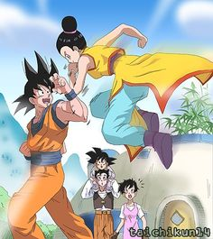 Goku and family - Visit now for 3D Dragon Ball Z shirts now on sale!