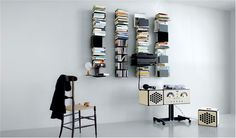 Hanging Bookshelves, E Design, Shoe Rack, Photo Wall, Living Rooms, Quilt, Home Decor, Products, Style