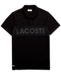 607f382fd0 Lacoste Men's Sport Mesh Logo Polo Shirt - Black L. Lacoste Men's Sport  Knit and ...