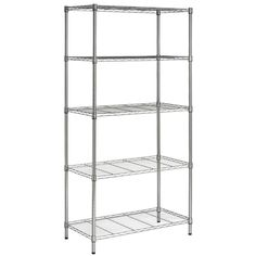 Safavieh 71-in H x 35.7-in W x 18-in D Wire Freestanding Shelving Unit