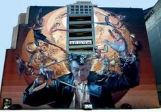 """""""The Storm"""", mural by Dallas artists Chris Arnold & Jeff Garrison of Eyecon, Inc."""