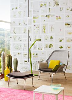 botanical living space.. create a wall of botanical pics - good for apartments without a garden Leesllamp Wästberg Eikelenboom www.bijdendom.nl