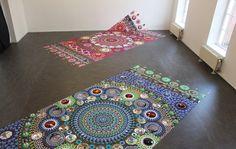 A Kaleidoscope of Colors in Mandala Art Installations Mandala Art, Colossal Art, Floor Art, Floor Decor, Dutch Artists, Pergola Designs, Rangoli Designs, Art Plastique, Textile Patterns