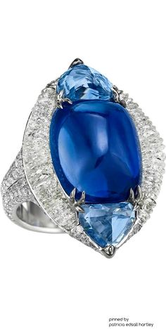 Boghossian-Masterpiece Sapphire ring-9x7mm-oval-blue-sapphire-halo-gemstone-and-70ctw-diamond.