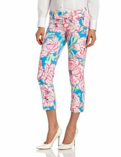 Lilly Pulitzer Women's Luxury Capri, Flutter Blue Lucky Charm, 2 Lilly Pulitzer. $168.00