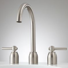 Cortland Widespread Bathroom Faucet - No Overflow - Brushed Nickel