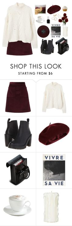 """""""Burbon"""" by mooonfruit ❤ liked on Polyvore featuring A.P.C., MANGO, Dr. Martens, Accessorize, The Criterion Collection, Sur La Table and Essie"""