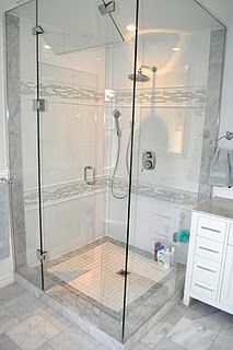 This shower is amazing.  This whole renovation is amazing actually!