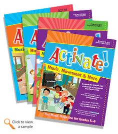 Activate!: Music, Movement & More;   A year full of lessons and activities for your general music classroom!