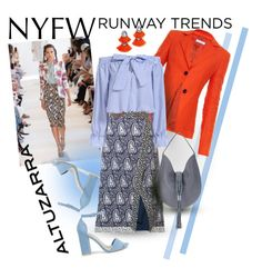"""NYFW: Runway Trends - Altuzarra"" by giovanina-001 ❤ liked on Polyvore featuring Altuzarra, BaubleBar and Nly Shoes"