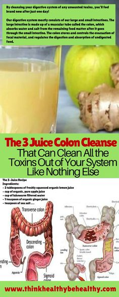 The 3 Juice Colon Cleanse That Can Clean All the Toxins Out of Your System Like Nothing Else!