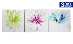 Get 44% #discount on Brush Stroked Flowers Clock #onlinedeals #cashcashpinoy