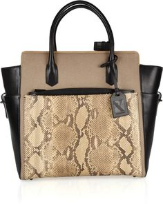 Atlantique Python and Leather Tote - Lyst