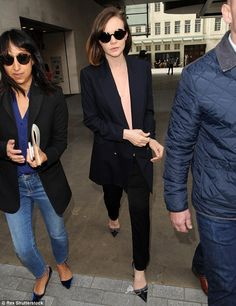 Out and about: Carey Mulligan managed to pull off another striking sartorial display as sh...