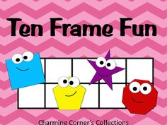 Ten Frame Fun from Charming Corner's Collection. This Ten Frame Fun Pack is a great way for students to practice their math skills by building numbers to ten. This pack is a great addition for math centers!