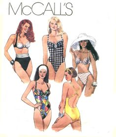 Plus Size Swimsuit Pattern  McCalls 5998  One by treazureddesignz, $16.95