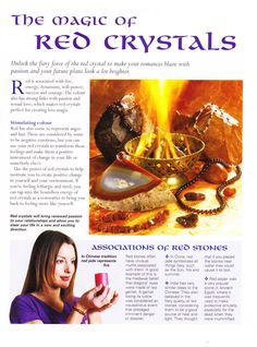 The magic of red Crystals