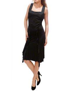 GIANNI VERSACE BLACK RUFFLES DRESS.46/L  $350 http://www.boutiqueon57.com/products/versace-black-ruffles-dress-46