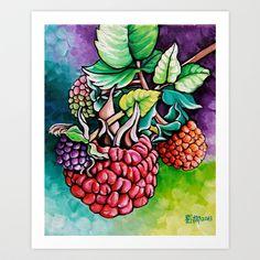 Berries Art Print by Na Liu Cherry - $19.00