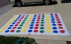 how to make a board game for teaching | Make a Giant Twister game board