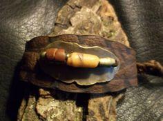 Tribal Bracelet-African Bracelet-Leather Bracelet-Bohemian Bracelet-Brass Hippie Bracelet-Boho Jewelry-Tribal Jewelry