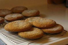 The Long Road: Irresistible Soft Ginger Molasses Cookies Ginger Molasses Cookies, Food Journal, Muffin, Baking, Breakfast, Food Diary, Morning Coffee, Bakken, Muffins