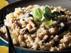 Creamy Gorgonzola and Portobello Mushroom Risotto