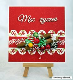 A red Christmas card