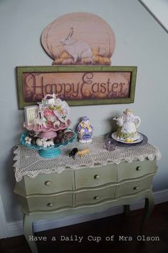 Have a Daily Cup of Mrs. Olson-Easter decor
