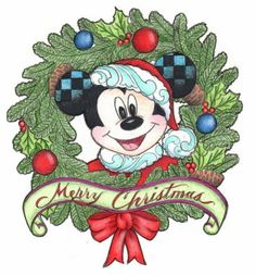 PRE-ORDER: Mickey Mouse 'Merry Christmas' wreath pin (Jim Shore)