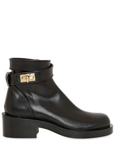 GIVENCHY - 50MM SHARK LOCK CALFSKIN LOW BOOTS - LUISAVIAROMA - LUXURY SHOPPING WORLDWIDE SHIPPING - FLORENCE