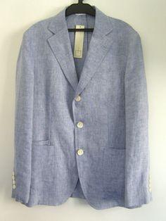 301 Japan Men Light Blue Engineered Poell Garments J Linen Crew Preppy Jacket XS #301Japan #Blazer