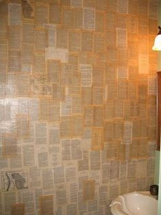 For a Harry Potter nursery (just an idea)... what if the ceiling was covered with pages from the book as wallpaper?