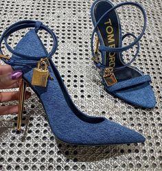 "✨ on Twitter: ""denim tom ford heels… "" Stilettos, High Heels, Shoes Heels, Pumps, Best Designer Bags, Designer Shoes, Cute Shoes, Me Too Shoes, Tom Ford Heels"