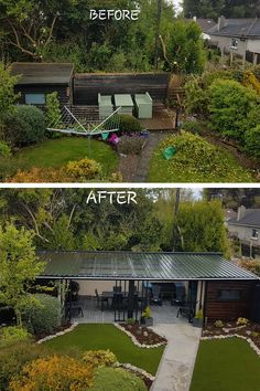 Check out this stunning before and after! What transformation! From an almost wild, untamed space to a slick manicured garden. What a place to use year round to relax and enjoy. Thanks to out customer (Tony) for sending us these before and after photos featuring our 25mm Marlay artificial grass. Spring Technology, Fake Grass, Our Environment, Weeding, Relax, Space, Garden, Check, Photos