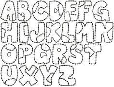 PAIXÃO EM SER PROFESSOR: Moldes de Letras e Números para Mural