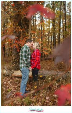romantic forrest photo shoot, fall session, fall colors, Fresh Look Photography, pop of red, country photo shoot, in the woods, military session, Operation Love Reunited, OpLove, navy couple