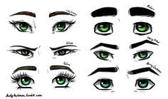 different eye shapes drawing deviantart tumblr - Google Search