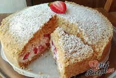 Strouhaný jahodový koláč bez pečení, lepší než zmrzlina! | NejRecept.cz