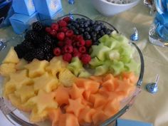 Twinkle Twinkle Little Star Baby Shower: Star-shaped Fruits