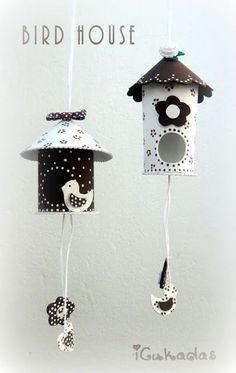 Graziose casette realizzate con il cartoncino nuove idee Pasquali - Il blog italiano sullo Shabby Chic e non solo