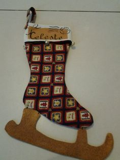 Christmas sock for a littlr girl. The pattern is frome Tone Finnanger