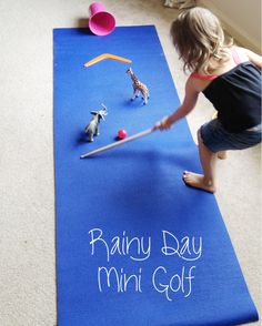 DIY Indoor Mini Golf for Kids