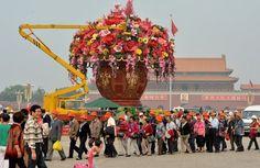 Vaso gigante de flores