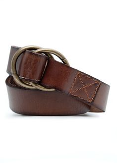 H.E. by MANGO - DOUBLE RING LEATHER BELT