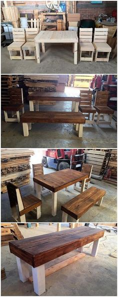 For your house outdoor beauty here we have the innovative idea of the wood pallet table and chairs furniture structure for you! You will prominently be finding it much easy and simple to carry out where the ultimate use of the wood pallet has been regardless added in it at the best. #furniturefinds