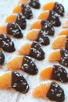 chocolate coated satsumas make a great healthy and low sugar snack for kids